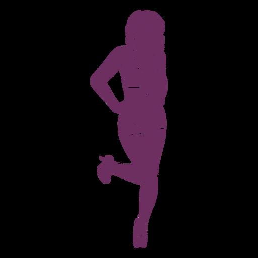 Pinup pose silhouette
