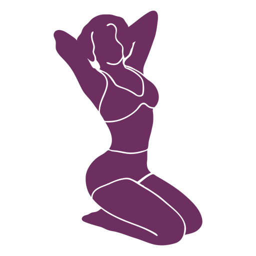Pinup two piece silhouette Transparent PNG
