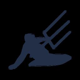 Pose silhueta de surfista de pipa