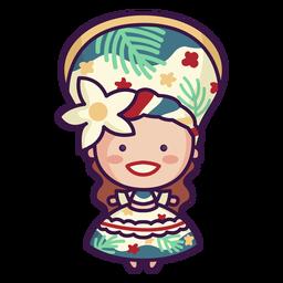 Cocar de mulher bonita do brasil