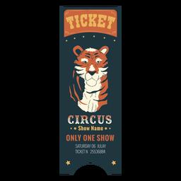 Bonito boleto de animal de circo