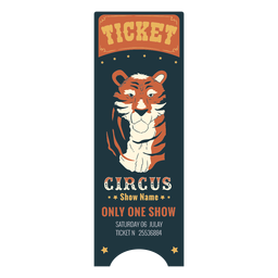 Pretty circus animal ticket