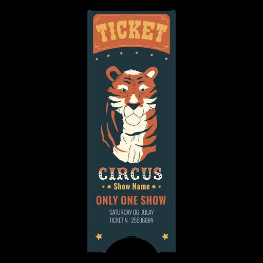 Bonito boleto de animales de circo Transparent PNG