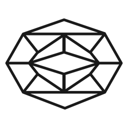 Pretty crystal stroke icon