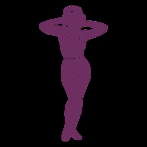 Pretty pinup classic silhouette