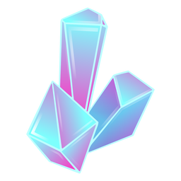 Prismas largos cristales azules