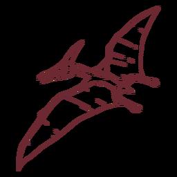 Pterodactyl dinosaur drawn