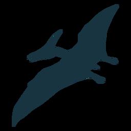 Silueta de dinosaurio pterodáctilo