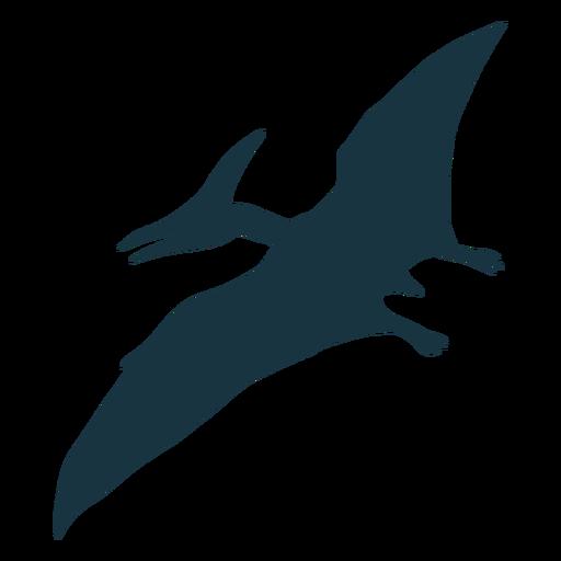 Silhueta de dinossauro pterodáctilo