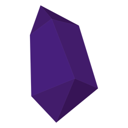Purple chunk crystal