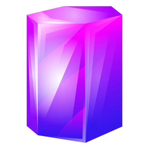 Purple chunky crystal