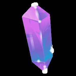 Cristal púrpura impresionante