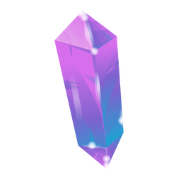Purple crystal awesome