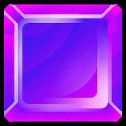Cristal quadrado roxo