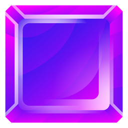 Purple square crystal