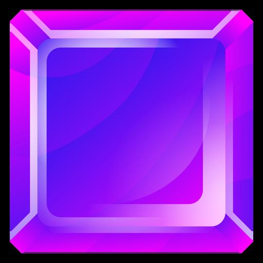 Cristal cuadrado morado