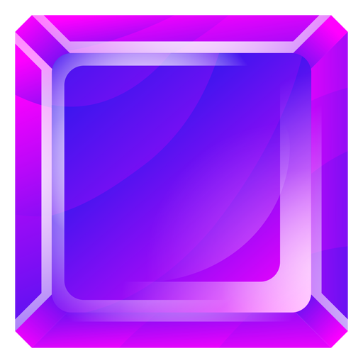Purple square crystal Transparent PNG
