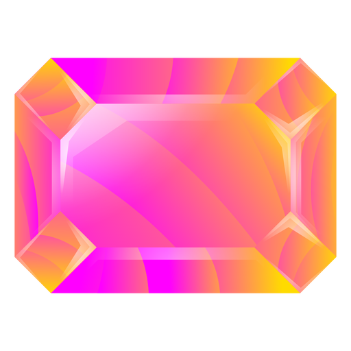 Rectangle octagon colorful crystal