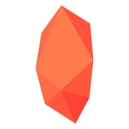 Red orange block crystal