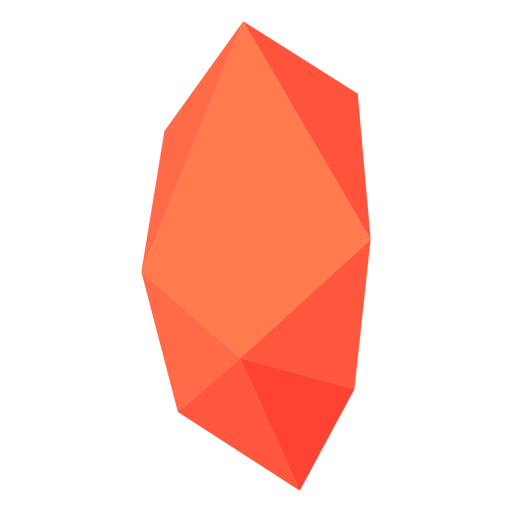 Cristal bloque naranja rojo