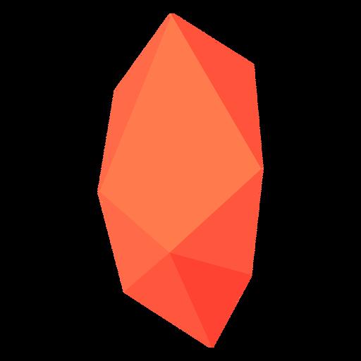 Red orange block crystal Transparent PNG