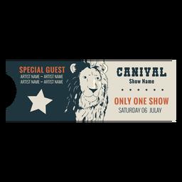 Sample circus ticket