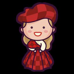 Vestido de tartan bonito de caráter escocês