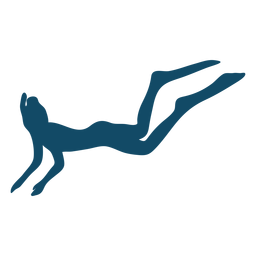 Scuba underwater girl silhouette
