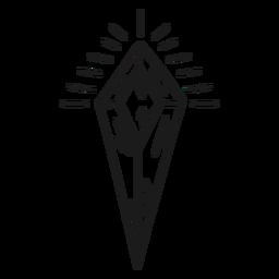 Shining awesome crystal shape