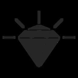 Shiny diamond crystal