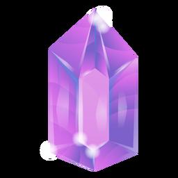 Cristal morado brillante