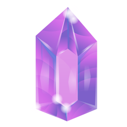 Glänzender lila Kristall