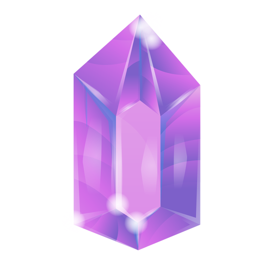 Shiny purple crystal Transparent PNG