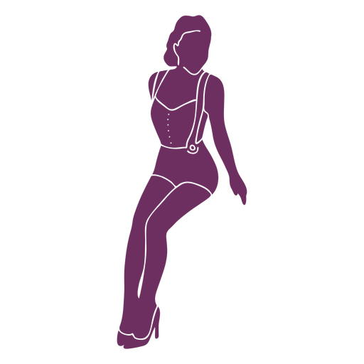 Silhouette classy pinup girl