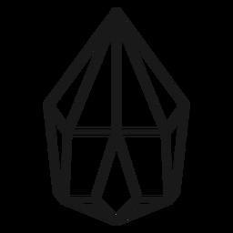 Icono de cristal simple