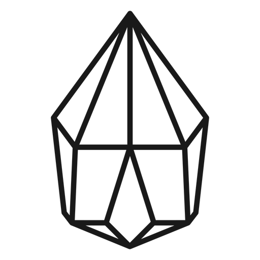 Icono de cristal simple Transparent PNG
