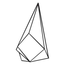 Cristal dibujado simple