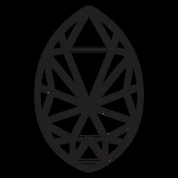 Einfacher Kristall in Eiform