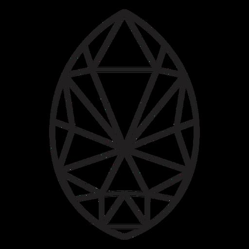Simple egg shape crystal Transparent PNG