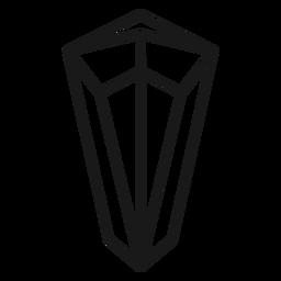 Simple icon stroke crystal