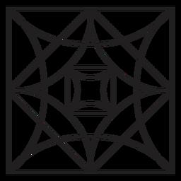 Cristal preto quadrado simples