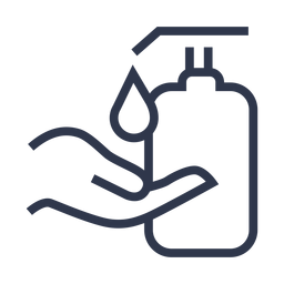 Icono de mano de bomba de jabón