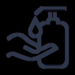 Soap pump hand icon