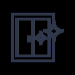 Icono de ventanas limpias chirriantes