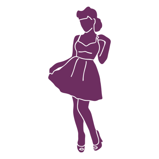 Standing pinup girl silhouette