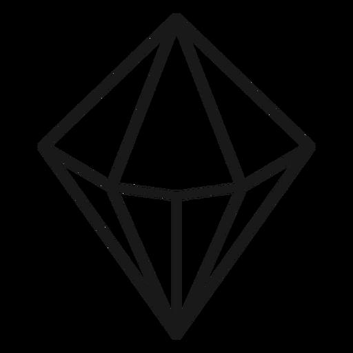Stroke icon diamond shape crystal Transparent PNG