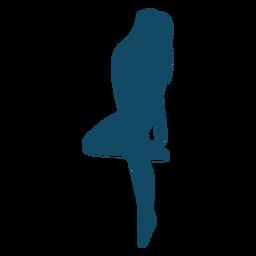 Swim up underwater girl silhouette