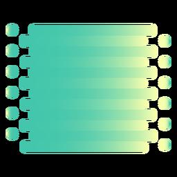 Deslizar círculos de flujo de degradado