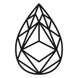 Icono de trazo de cristal de lágrima