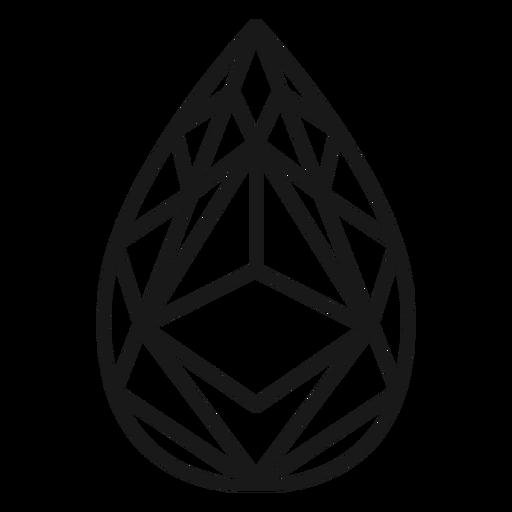Tear drop crystal stroke icon
